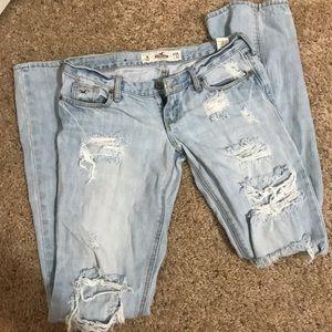 Hollsiter ripped straight leg jeans